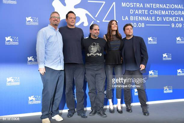 Dallas Sonnier Vince Vaughn S Craig Zahler Jennifer Carpenter and Jack Heller attend 'Brawl In Cell Block 99' photocall during the 74th Venice Film...