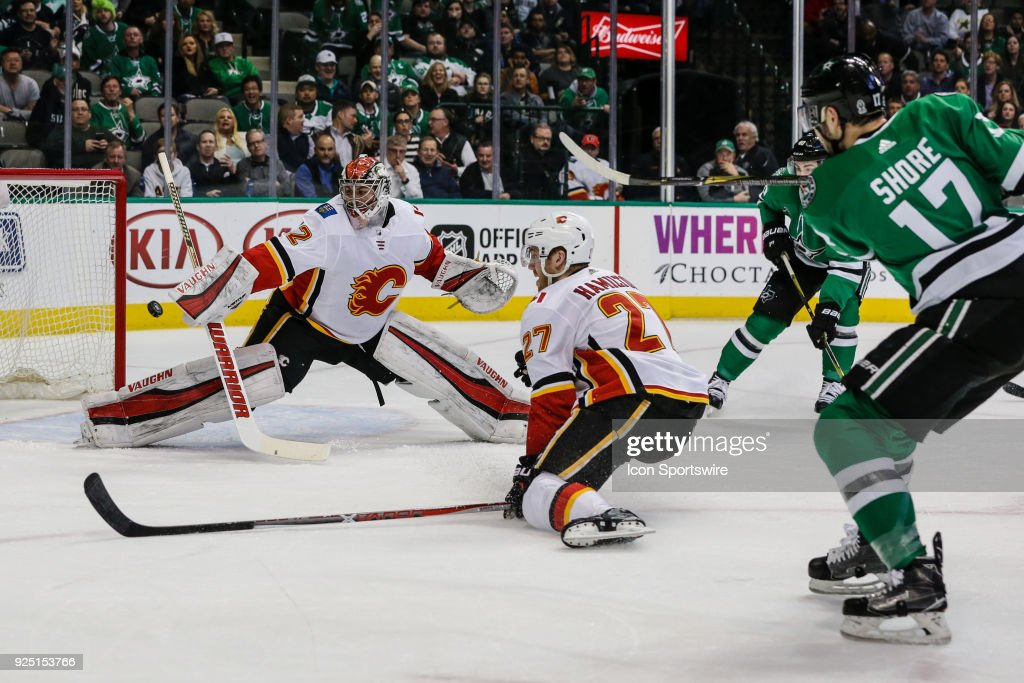 NHL: FEB 27 Flames at Stars : News Photo