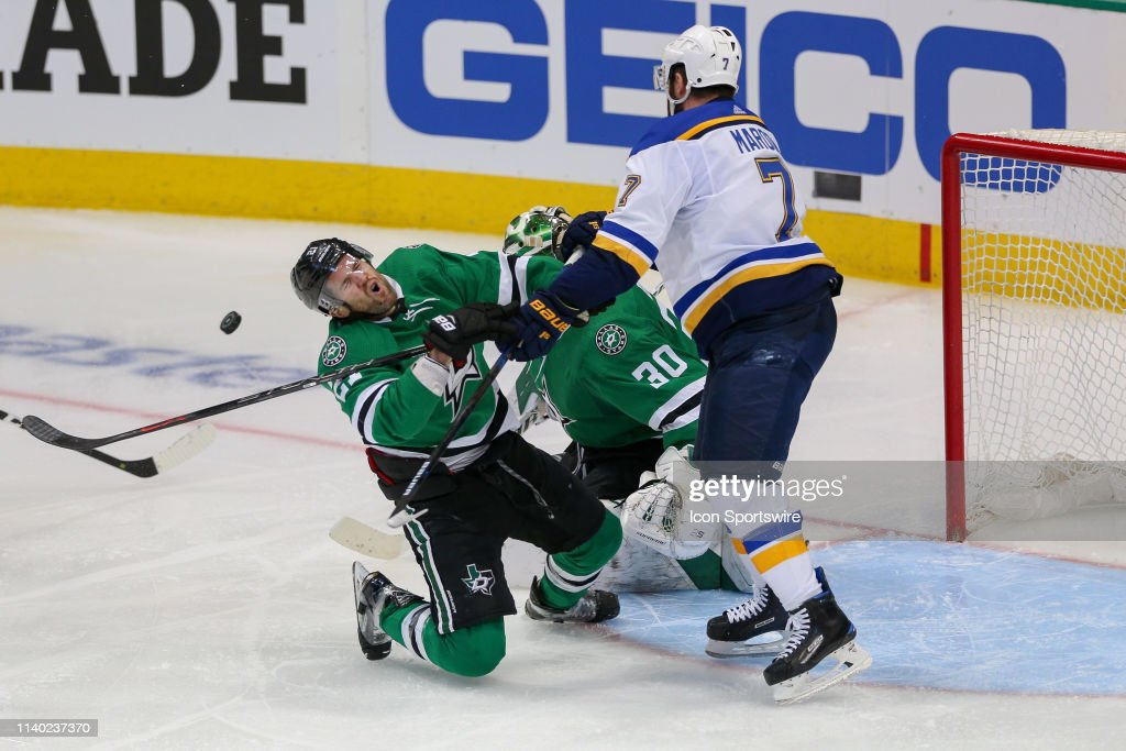 NHL: APR 29 STANLEY CUP PLAYOFFS SECOND ROUND - BLUES AT STARS : News Photo