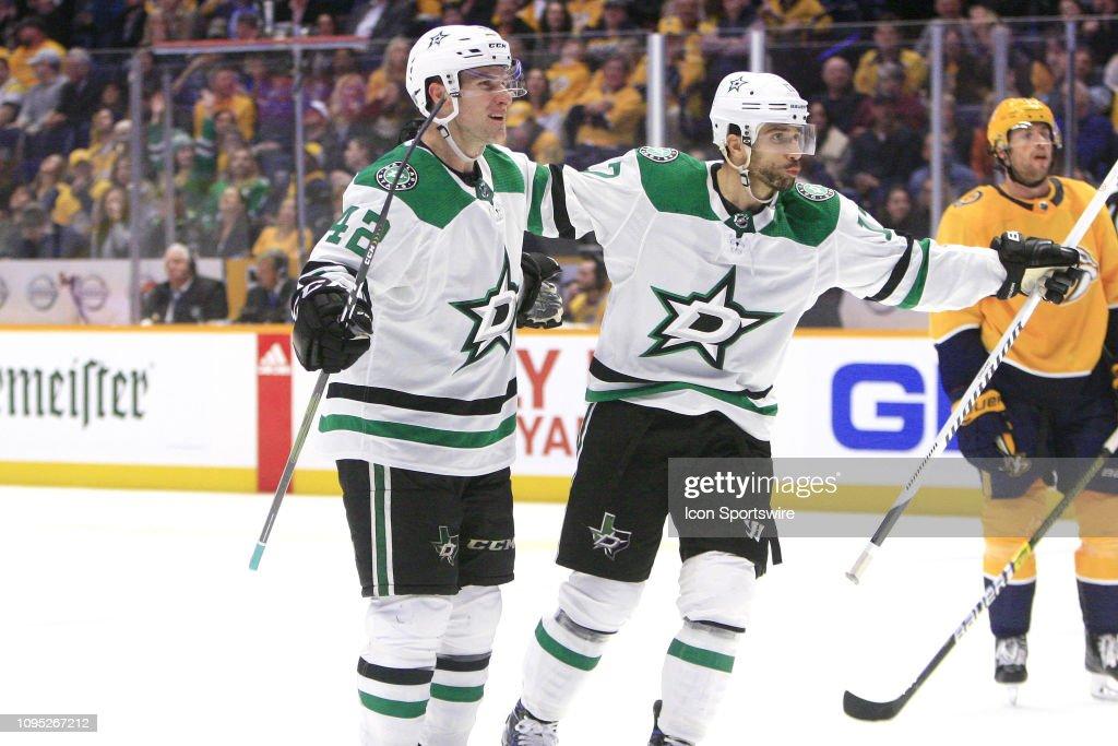 NHL: FEB 07 Stars at Predators : News Photo