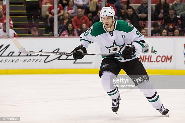 Dallas Stars forward Jason Spezza skates during a regular season NHL hockey game between the Dallas Stars and the Detroit Red Wings on November 29 at...