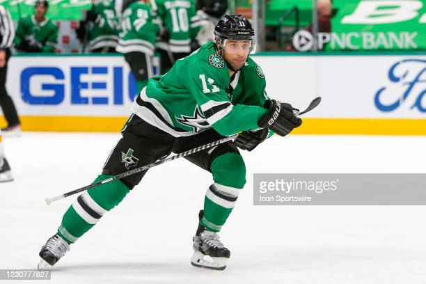 Dallas Stars Left Wing Andrew Cogliano breaks into the offensive zone during the game between the Nashville Predators and Dallas Stars on January 24,...