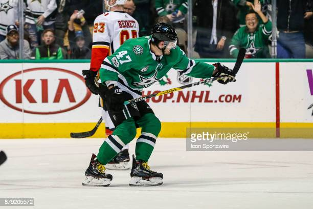 Dallas Stars right wing Alexander Radulov celebrates scoring a goal during the game between the Dallas Stars and the Calgary Flames on November 24...