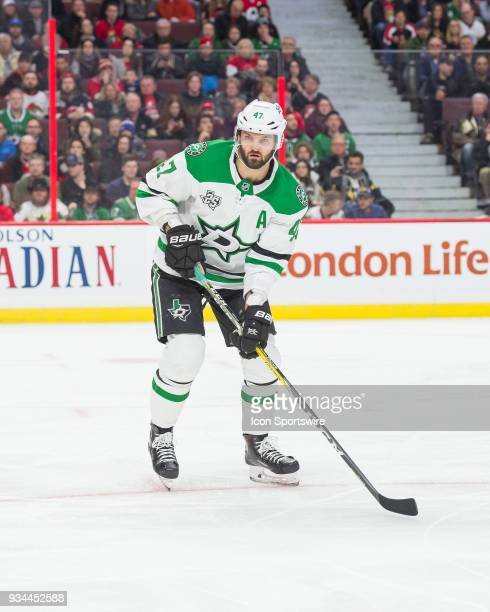 Dallas Stars Right Wing Alexander Radulov looks on during the first period of the NHL game between the Ottawa Senators and the Dallas Stars on March...