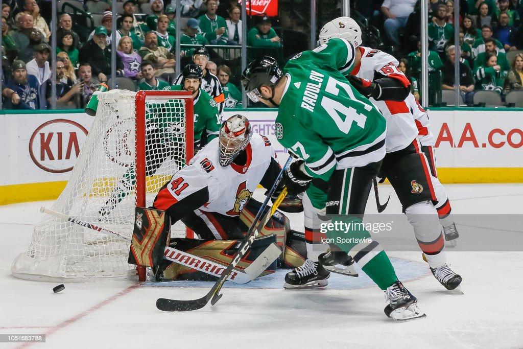 NHL: NOV 23 Senators at Stars : News Photo