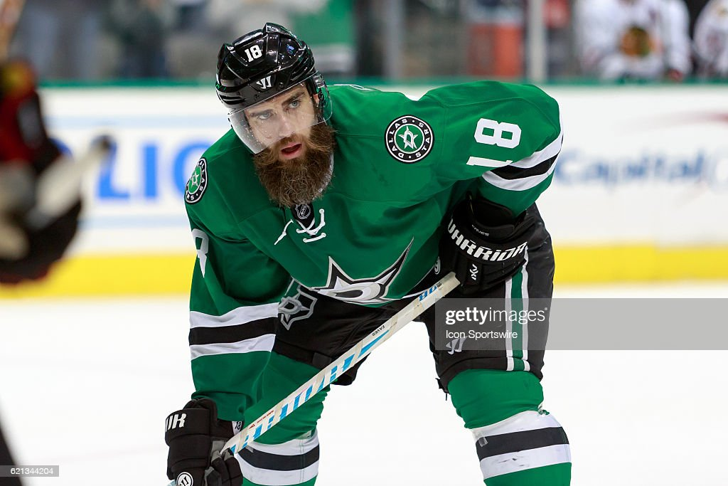 cheap for discount ac8f5 d9378 Dallas Stars Right Wing Patrick Eaves sets up for a face off ...