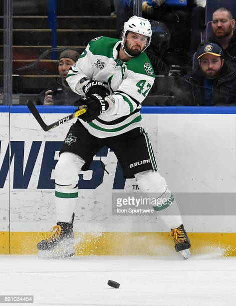 Dallas Stars rightwing Alexander Radulov passes the puck during a NHL game between the Dallas Stars and the St Louis Blues on December 07 at...
