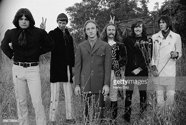 Dallas Taylor and unknown person with Stephen Stills David Crosby Graham Nash and Neil Young