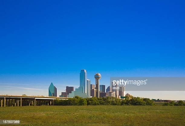 Dallas Texas ciudad horizonte vista panorámica de la ciudad