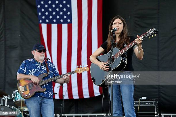 Dallas Wayne and Amy Nelson perform in concert with Folk Uke during the 43rd Annual Willie Nelson 4th of July Picnic at the Austin360 Amphitheater on...
