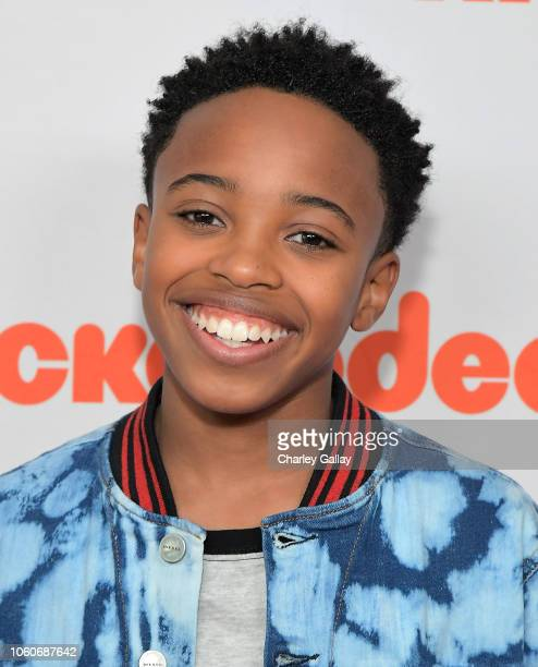 Dallas Young attends Nickelodeon' Holiday Party With Casts Of Cousins For Life And Henry Danger at Nickelodeon Studios on November 10 2018 in Burbank...