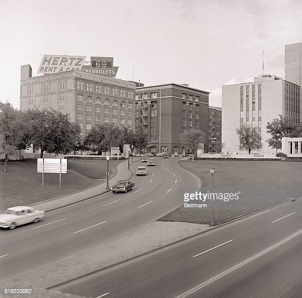 DallasTX Traffic moves along the toroughfare on which President John F Kennedy was hit by an assassin's bullets Nov 221963 This recent view shows the...