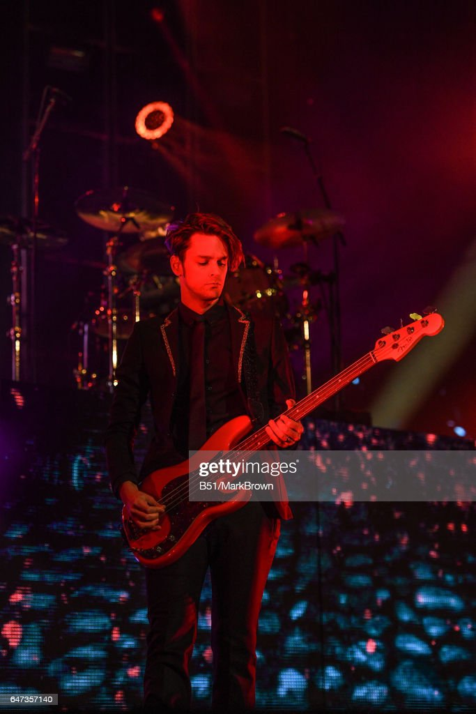Dallon Weekes Of Panic! At The Disco Performs At Madison Square Garden On  March 2