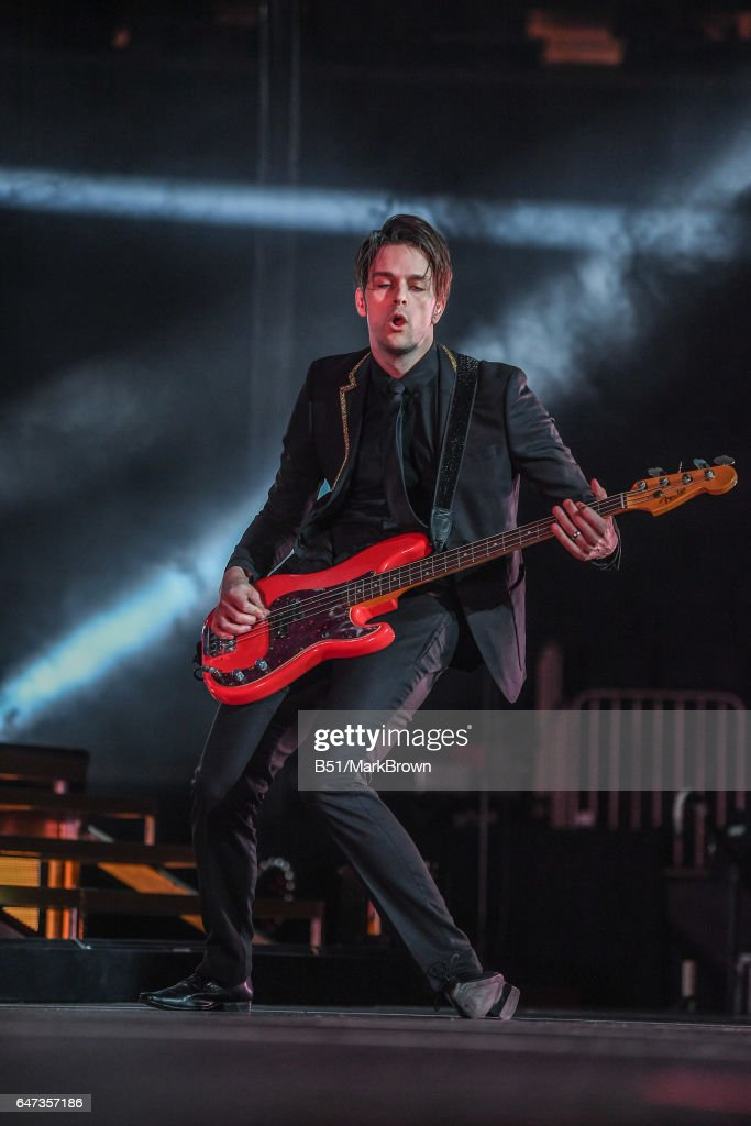 Dallon Weekes Of Panic! At The Disco Performs At Madison Square Garden On  March 2 Photo