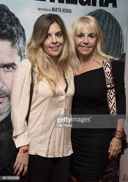 Dalma Maradona and Claudia Villafane attend the 'Nieve Negra' premiere at the Gaumont cinema on January 17 2017 in Buenos Aires Argentina