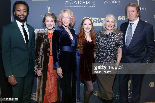Dalmar Abuzeid, Geraldine James, Moira Walley-Beckett, Amybeth McNulty, Helen Shaver and R.H. Thomson attend Canadian Screen Awards: The CTV Gala...