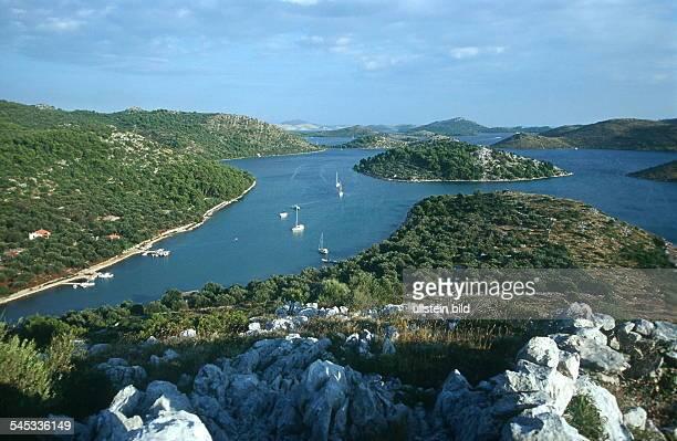 Dalmatien / Blick über Buchten von Telasica 1999