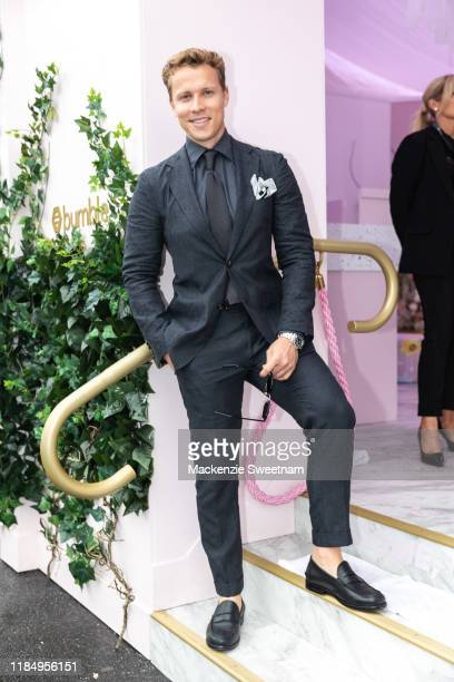 Dalton Graham poses at the Bumble marquee on Derby Day at Flemington Racecourse on November 02, 2019 in Melbourne, Australia.