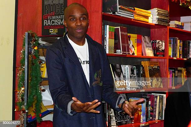"Dalton Higgins Launches His 6th Book ""Rap N'Roll: Pop Culture, Darkly Stated"" at A Different Booklist on December 4, 2015 in Toronto, Canada."
