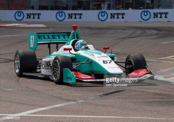 Dalton Kellett during the Indy Lights Race of St Petersburg on March 9 at the Streets of St Petersburg in St Petersburg FL