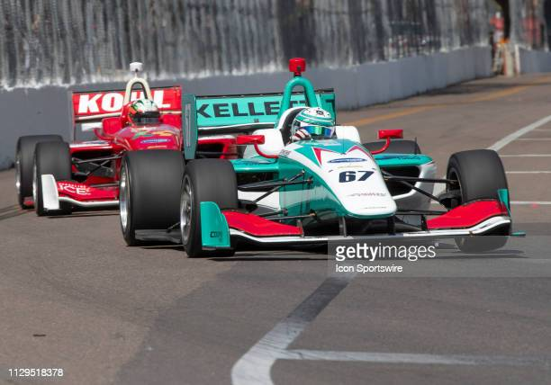 Dalton Kellett during the Start of the Indy Lights Race of St Petersburg on March 9 in St Petersburg FL