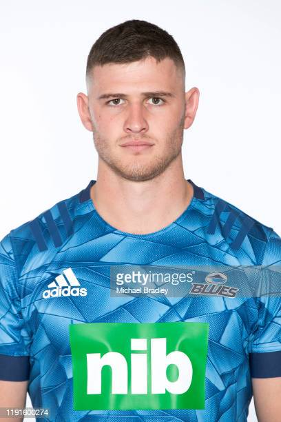 Dalton Papalii poses during the Blues 2020 Super Rugby headshots session on November 26, 2019 in Auckland, New Zealand.
