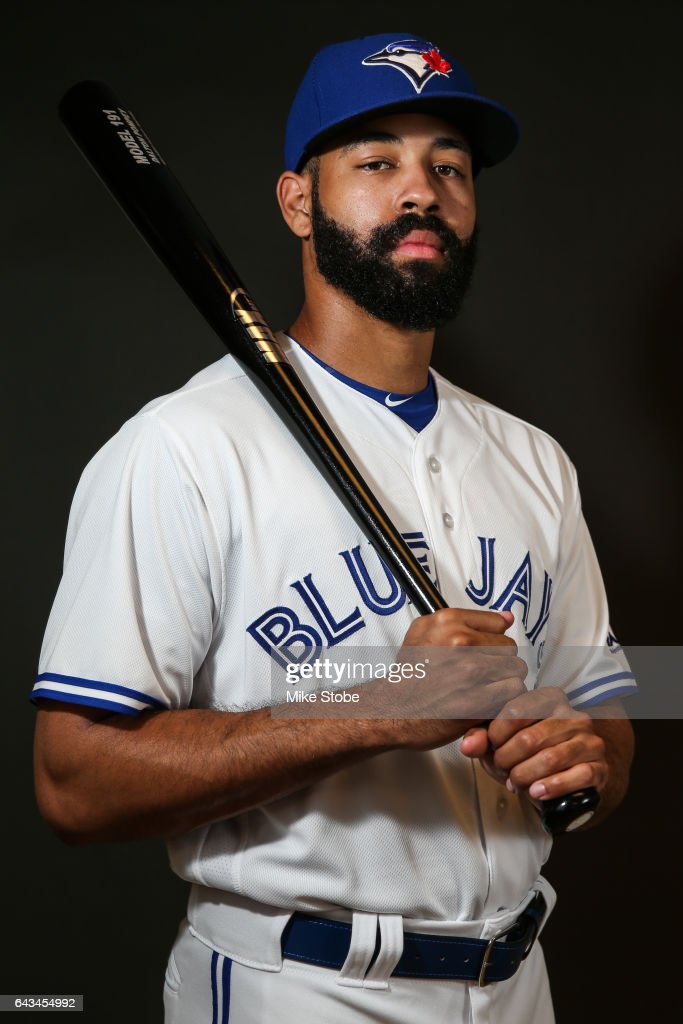 Dalton Pompey #23 of the Toronto Blue Jays poses for a portait during a MLB photo day at Florida Auto Exchange Stadium on February 21, 2017 in Sarasota, Florida.