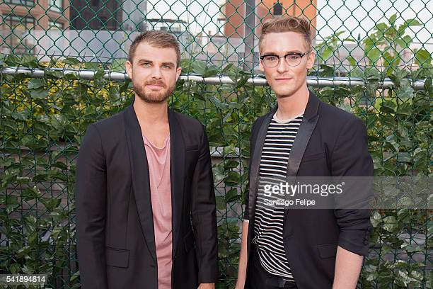 Dalton Primeaux and Brandon Garr attend the 6th Annual Broadway Sings For Pride Concert at JCC Manhattan on June 20 2016 in New York City