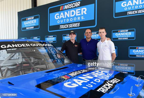 Dalton Sargeant driver of the Performance Plus Motor Oil Chevrolet Marcus Lemonis Chairman of Gander Outdoors Camping World and Overton's and Ben...
