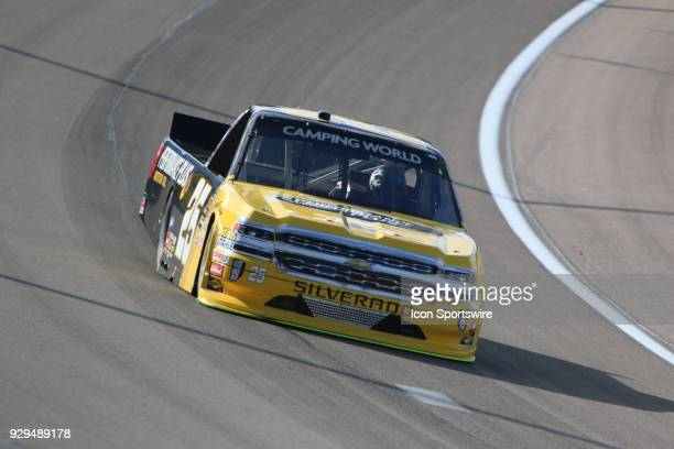 Dalton Sargeant GMS Racing Chevrolet Silverado during practice for the Stratosphere 200 NASCAR Camping World Truck Series race on March 1 at Las...