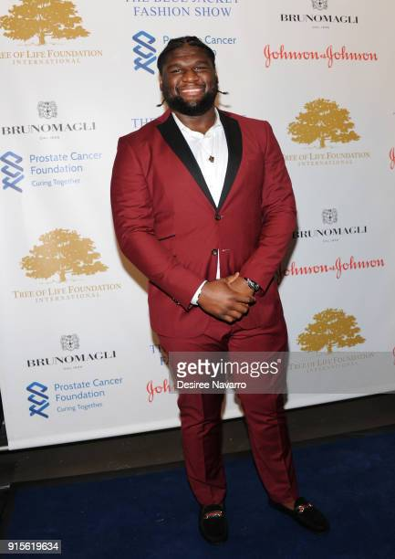 Dalvin Tomlinson attends the 2nd Annual Blue Jacket Fashion Show at Pier 59 Studios on February 7 2018 in New York City