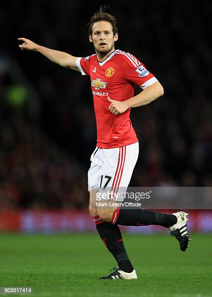 Daly Blind of Manchester United during the Barclays Premier League match between Manchester United and Chelsea at Old Trafford on December 28 2015 in...