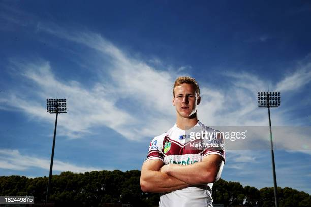 Daly CherryEvans poses during the Manly Sea Eagles NRL Grand Final media day at Brookvale Oval on September 30 2013 in Sydney Australia