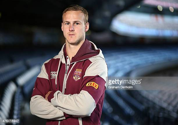 Daly CherryEvans poses during the Queensland Maroons State of Origin team announcement at Melbourne Cricket Ground on June 9 2015 in Melbourne...