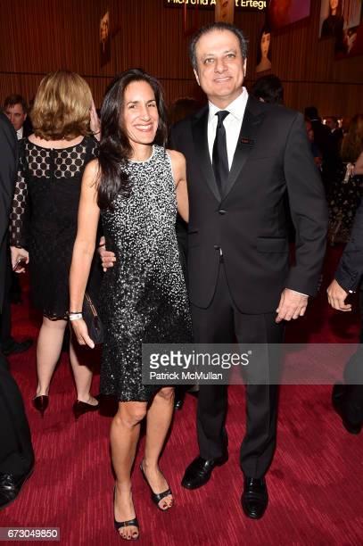 Dalya Bharara and Preet Bharara attend the 2017 TIME 100 Gala at Jazz at Lincoln Center on April 25 2017 in New York City