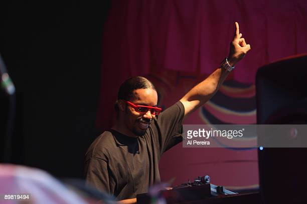 Dam Funk DJ opens for Animal Collective during the 31st Celebrate Brooklyn Summer Season at the Prospect Park Bandshell on August 15 2009 in the...