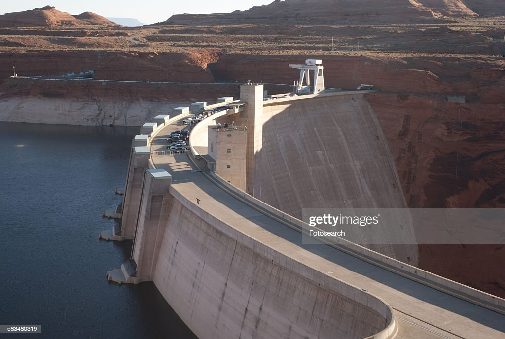 Dam on Lake Powell : Stock Photo