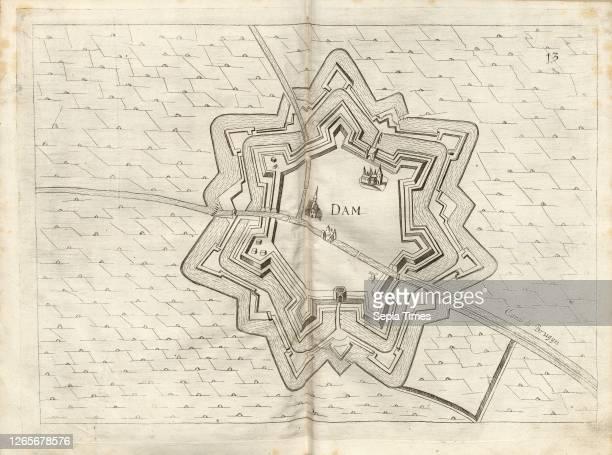 Dam, Plan of fortification of Damme , Fig. 15 after p. 148 Galeazzo Gualdo Priorato: Teatro del Belgio, o sia descritione delle diecisette provincie...