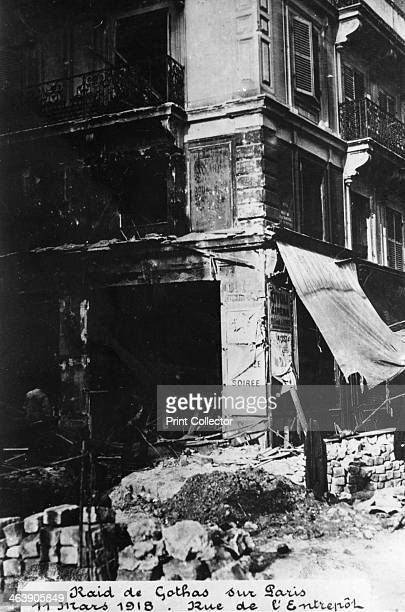 Damage after a raid by German Gotha bombers Paris 11th March 1918