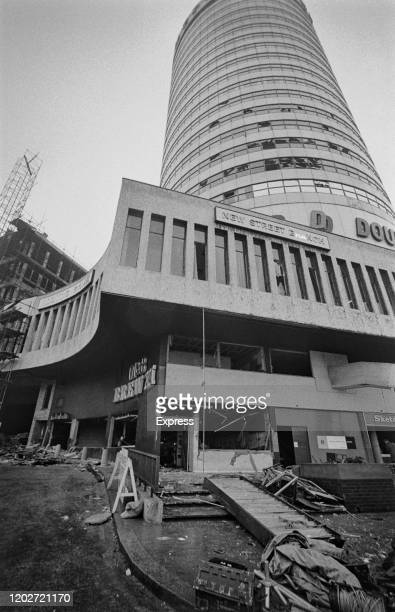 Damage and debris at the Mulberry Bush location of one of the two pub bombings on 21st November 1974 in Birmingham West Midlands England 23rd...