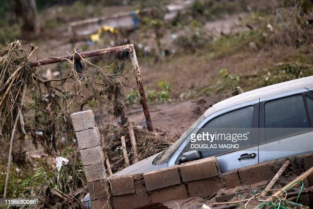 Damage caused by the overflowing of Das Velhas River following torrential rains, in Sabara, in the metropolitan region of Belo Horizonte, Minas...
