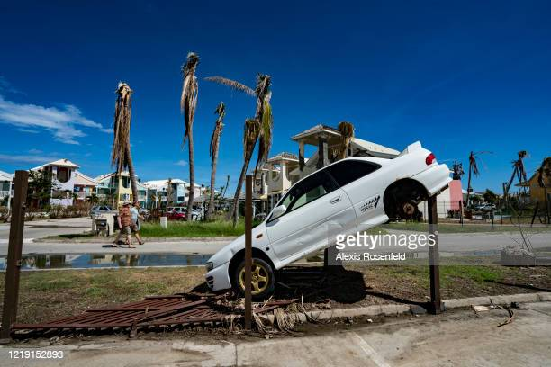 Damage caused by the powerful tropical storm is still visible on November 15 Saint-Martin, French Antilles. Hurricane Irma was an extremely powerful...