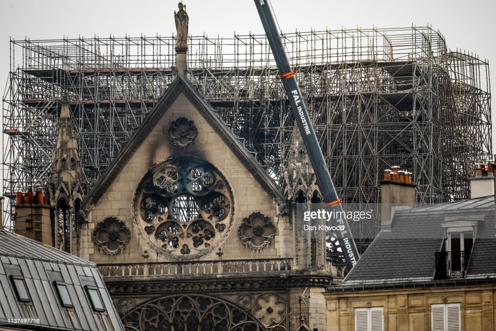 Paris Assesses Damage Following Notre Dame Blaze : News Photo