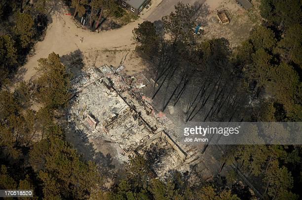 Damage from the east edge of the Black Forest Fire Colorado Springs Colorado June 13 2013 Denver Colorado Springs