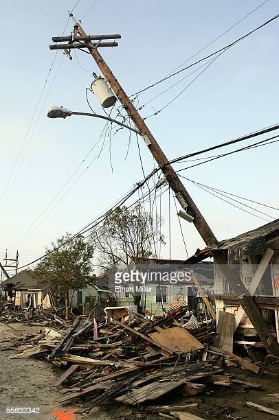 Damage is evident in the Lower Ninth Ward near the broken levee along the Industrial Canal September 30, 2005 in New Orleans, Louisiana. The levee...