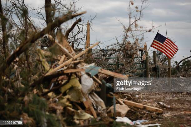 Damage is seen in the aftermath of an EF4 tornado on March 11 2019 in Beauregard Alabama Numerous tornado touchdowns were reported in Eastern Alabama...