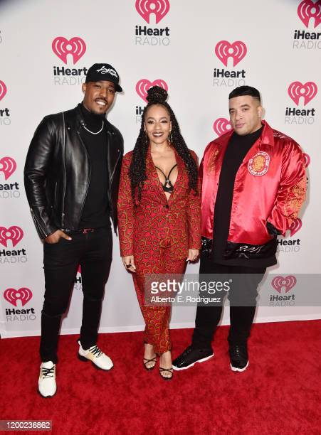 DJ Damage Melyssa Ford and Jason Lee attend the 2020 iHeartRadio Podcast Awards at the iHeartRadio Theater on January 17 2020 in Burbank California
