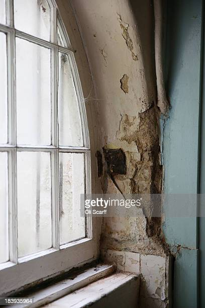 Damage to the basement of Sandycombe Lodge the former home of landscape painter Joseph Mallord William Turner which has been placed on English...