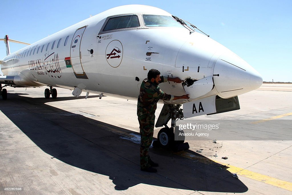 Tripoli airport after the clashes in Libya : News Photo