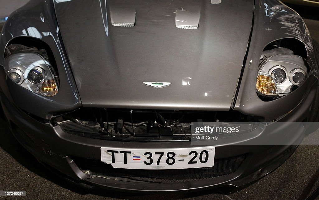 A Damaged Aston Martin Dbs That Was Used In The James Bond